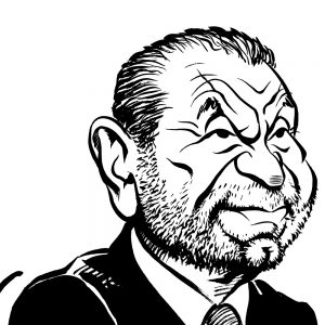 The Apprentice Alan Sugar caricature