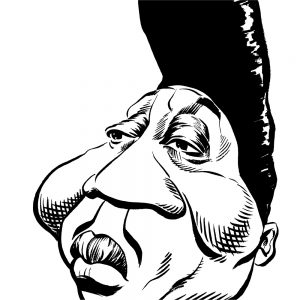 Muddy Waters caricature