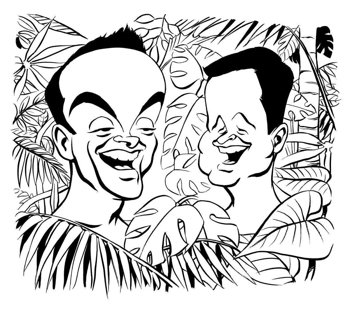 Ant and Dec caricature