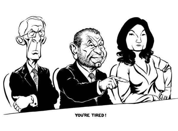 The Apprentice Alan Sugar caricature