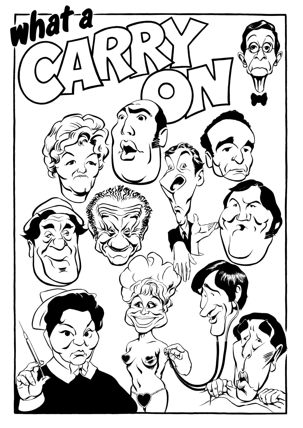Carry On caricature