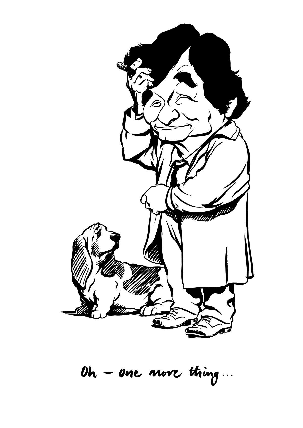 Colombo caricature