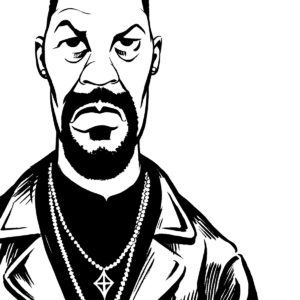 Denzel Washington caricature