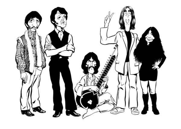 Late The Beatles caricature