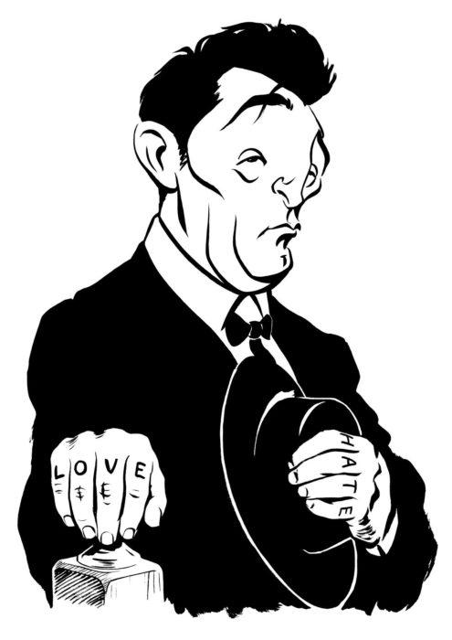 Robert Mitchum caricature