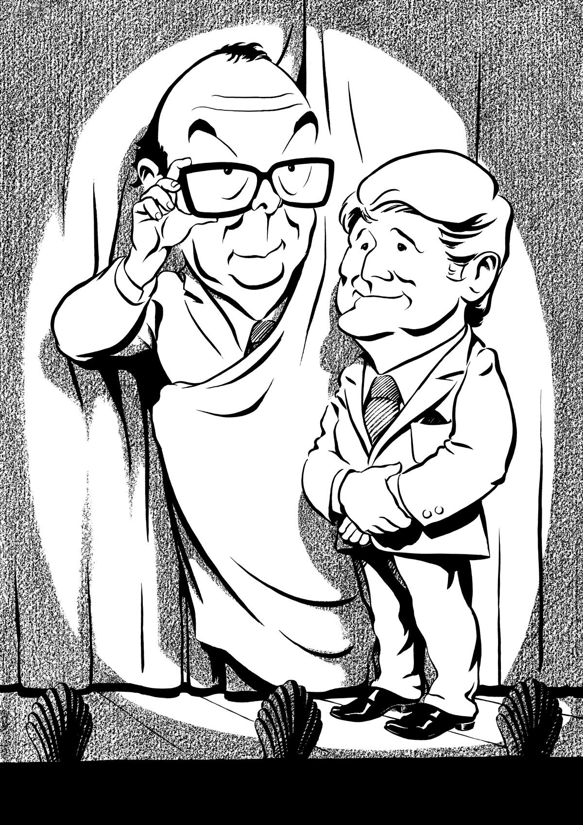 Morecambe and Wise caricature