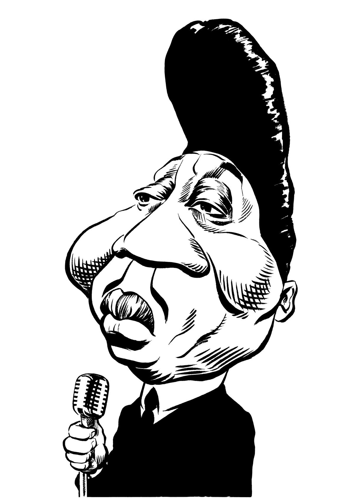 Muddy Waters caricature