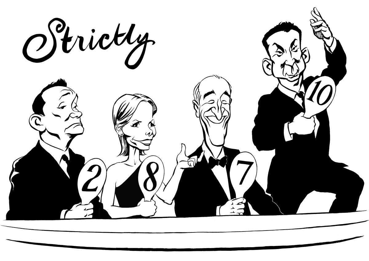 Strictly Come Dancing caricature