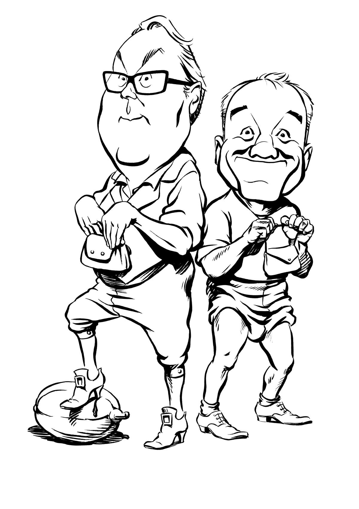 Vic and Bob caricature
