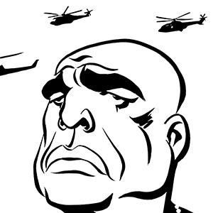 Marlon Brando caricature